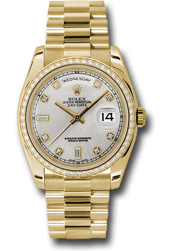 Rolex Watches - Day-Date President Yellow Gold - 52 Dia Bezel - President - Style No: 118348 sdp
