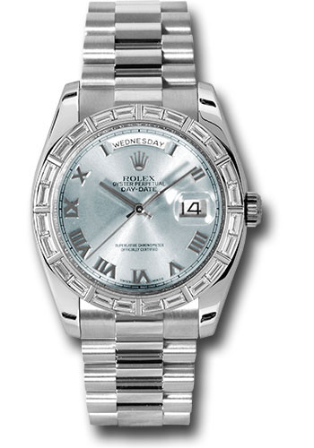 Rolex Watches - Day-Date President Platinum - Dia Bezel - President - Style No: 118366 glarp