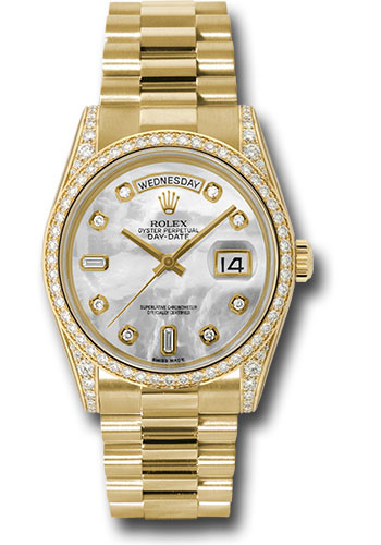 Rolex Watches - Day-Date 36 Yellow Gold - 52 Dia Bezel - Dia Lugs - President - Style No: 118388 mdp