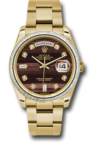 Rolex Watches - Day-Date 36 Yellow Gold - 60 Dia Bezel - Oyster - Style No: 118398 bedo