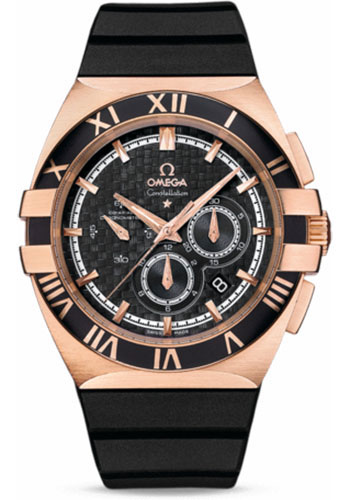 Omega Watches - Constellation Double Eagle Co-Axial Chrono Red Gold - Style No: 121.62.41.50.01.001