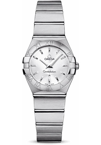 Omega Watches - Constellation Quartz 24 mm - Brushed Stainless Steel - Style No: 123.10.24.60.02.001