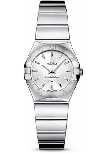 Omega Watches - Constellation Quartz 24 mm - Polished Stainless Steel - Style No: 123.10.24.60.02.002