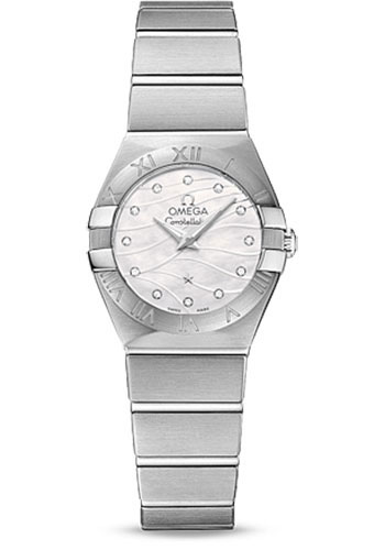 Omega Watches - Constellation Quartz 24 mm - Brushed Stainless Steel - Style No: 123.10.24.60.55.003