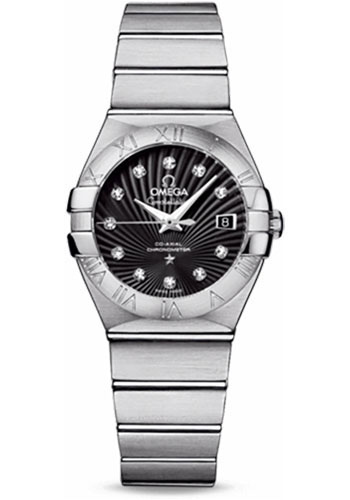 Omega Watches - Constellation Co-Axial 27 mm - Brushed Stainless Steel - Style No: 123.10.27.20.51.001