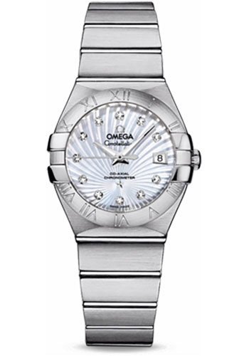 Omega Watches - Constellation Co-Axial 27 mm - Brushed Stainless Steel - Style No: 123.10.27.20.55.001