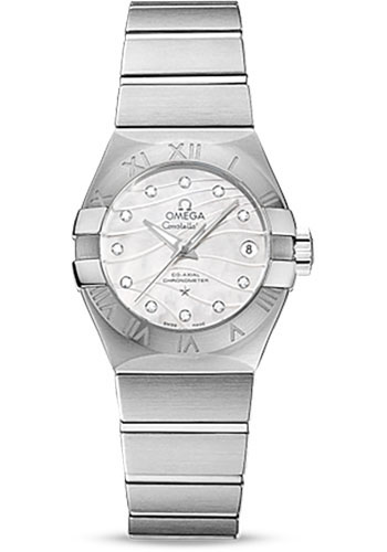 Omega Watches - Constellation Co-Axial 27 mm - Brushed Stainless Steel - Style No: 123.10.27.20.55.002