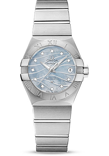 Omega Watches - Constellation Co-Axial 27 mm - Brushed Stainless Steel - Style No: 123.10.27.20.57.001