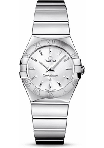 Omega Watches - Constellation Quartz 27 mm - Polished Stainless Steel - Style No: 123.10.27.60.02.002
