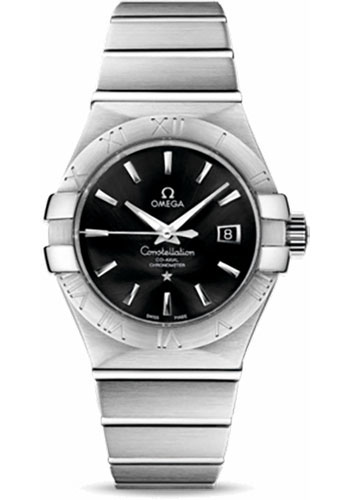 Omega Watches - Constellation Co-Axial 31 mm - Brushed Stainless Steel - Style No: 123.10.31.20.01.001