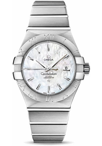 Omega Watches - Constellation Co-Axial 31 mm - Brushed Stainless Steel - Style No: 123.10.31.20.05.001