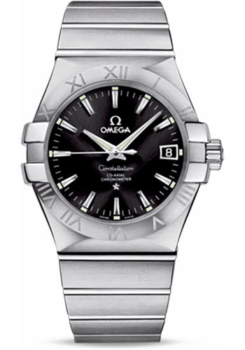 Omega Watches - Constellation Co-Axial 35 mm - Brushed Stainless Steel - Style No: 123.10.35.20.01.001