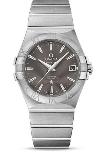 Omega Watches - Constellation Co-Axial 35 mm - Brushed Stainless Steel - Style No: 123.10.35.20.06.001