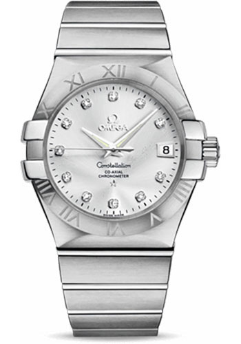 Omega Watches - Constellation Co-Axial 35 mm - Brushed Stainless Steel - Style No: 123.10.35.20.52.001