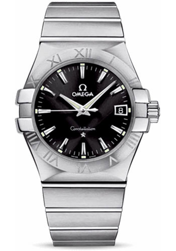 Omega Watches - Constellation Quartz 35 mm - Brushed Stainless Steel - Style No: 123.10.35.60.01.001
