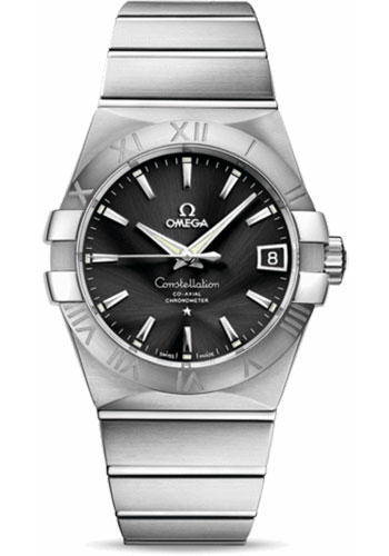 Omega Watches - Constellation Co-Axial 38 mm - Brushed Stainless Steel - Style No: 123.10.38.21.01.001