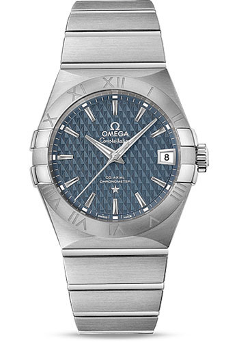 Omega Watches - Constellation Co-Axial 38 mm - Brushed Stainless Steel - Style No: 123.10.38.21.03.001