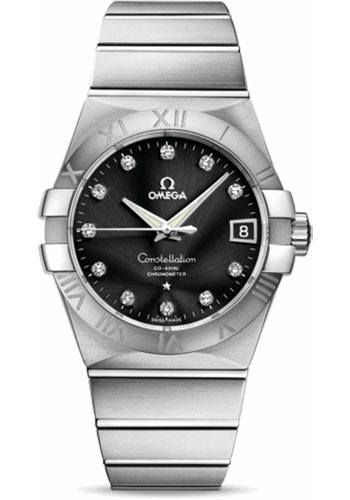 Omega Watches - Constellation Co-Axial 38 mm - Brushed Stainless Steel - Style No: 123.10.38.21.51.001