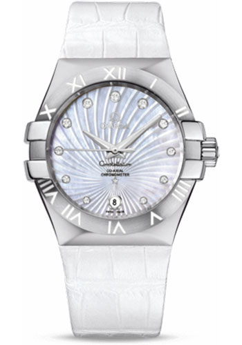 Omega Watches - Constellation Co-Axial 35 mm - Brushed Stainless Steel - Style No: 123.13.35.20.55.001