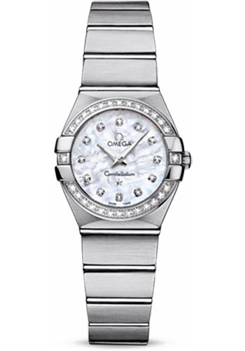 Omega Watches - Constellation Quartz 24 mm - Brushed Stainless Steel - Style No: 123.15.24.60.55.001