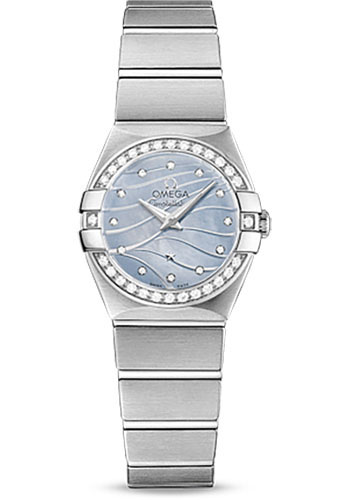 Omega Watches - Constellation Quartz 24 mm - Brushed Stainless Steel - Style No: 123.15.24.60.57.001