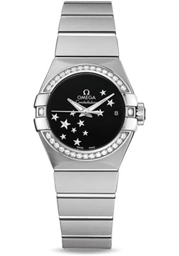 Omega Watches - Constellation Co-Axial 27 mm - Brushed Stainless Steel - Style No: 123.15.27.20.01.001