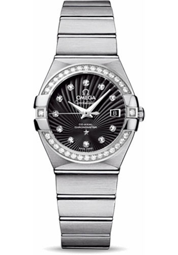 Omega Watches - Constellation Co-Axial 27 mm - Brushed Stainless Steel - Style No: 123.15.27.20.51.001