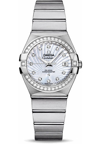 Omega Watches - Constellation Co-Axial 27 mm - Brushed Stainless Steel - Style No: 123.15.27.20.55.001