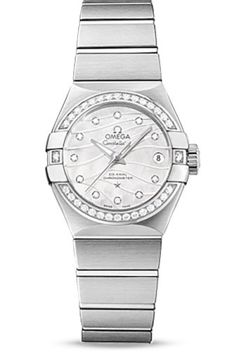 Omega Watches - Constellation Co-Axial 27 mm - Brushed Stainless Steel - Style No: 123.15.27.20.55.002