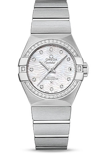 Omega Watches - Constellation Co-Axial 27 mm - Brushed Stainless Steel - Style No: 123.15.27.20.55.003