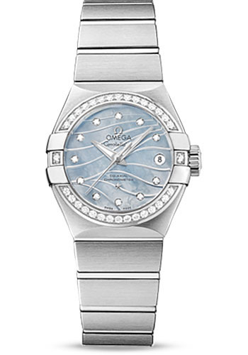 Omega Watches - Constellation Co-Axial 27 mm - Brushed Stainless Steel - Style No: 123.15.27.20.57.001