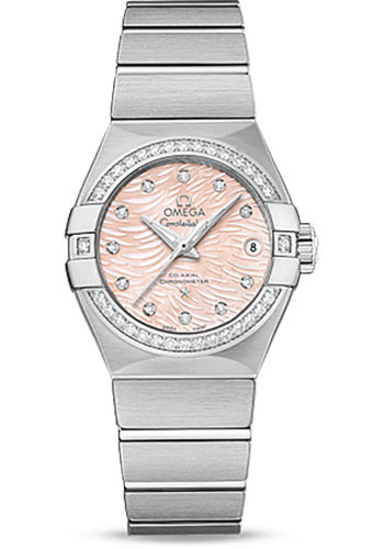 Omega Watches - Constellation Co-Axial 27 mm - Brushed Stainless Steel - Style No: 123.15.27.20.57.002