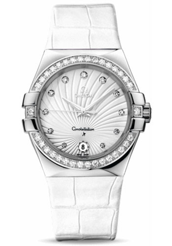 Omega Watches - Constellation Co-Axial 35 mm - Brushed Stainless Steel - Style No: 123.18.35.60.52.001