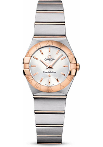 Omega Watches - Constellation Quartz 24 mm - Brushed Steel and Red Gold - Style No: 123.20.24.60.02.001