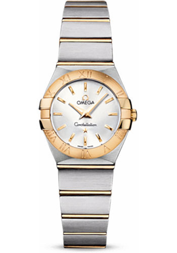 Omega Watches - Constellation Quartz 24 mm - Brushed Steel and Yellow Gold - Style No: 123.20.24.60.02.002