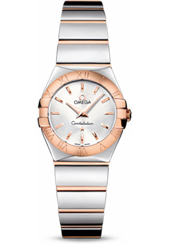 Omega Watches - Constellation Quartz 24 mm - Polished Steel and Red Gold - Style No: 123.20.24.60.02.003