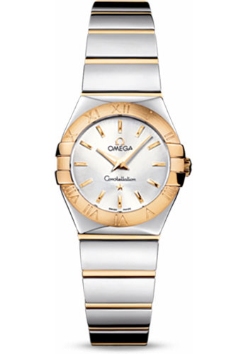 Omega Watches - Constellation Quartz 24 mm - Polished Steel and Yellow Gold - Style No: 123.20.24.60.02.004