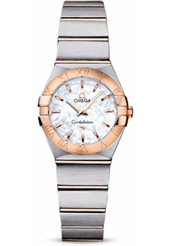 Omega Watches - Constellation Quartz 24 mm - Brushed Steel and Red Gold - Style No: 123.20.24.60.05.001