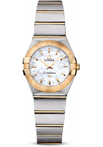 Omega Watches - Constellation Quartz 24 mm - Brushed Steel and Yellow Gold - Style No: 123.20.24.60.05.002