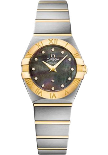 Omega Watches - Constellation Quartz 24 mm - Brushed Steel and Yellow Gold - Style No: 123.20.24.60.57.006