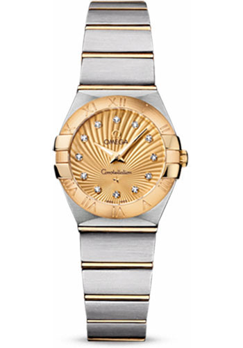 Omega Watches - Constellation Quartz 24 mm - Brushed Steel and Yellow Gold - Style No: 123.20.24.60.58.001