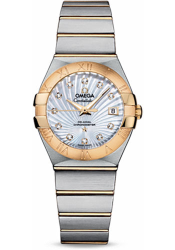 Omega Watches - Constellation Co-Axial 27 mm - Brushed Steel and Yellow Gold - Style No: 123.20.27.20.55.002