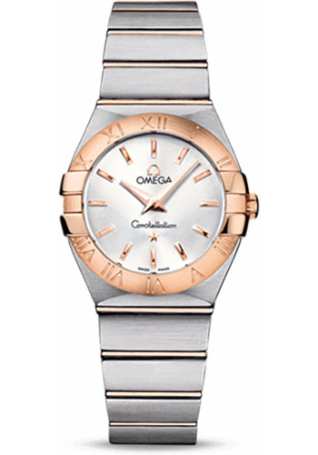 Omega Watches - Constellation Quartz 27 mm - Brushed Steel and Red Gold - Style No: 123.20.27.60.02.001
