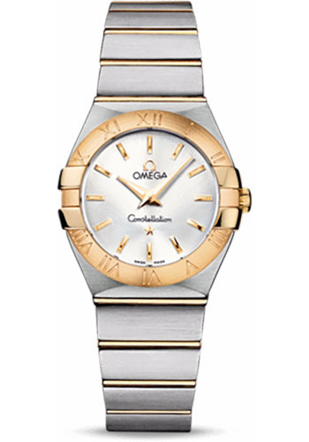 Omega Watches - Constellation Quartz 27 mm - Brushed Steel and Yellow Gold - Style No: 123.20.27.60.02.002