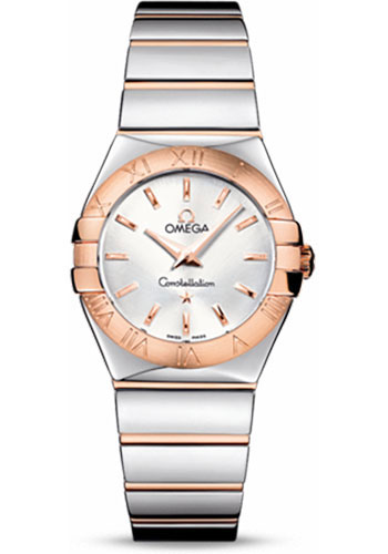 Omega Watches - Constellation Quartz 27 mm - Polished Steel and Red Gold - Style No: 123.20.27.60.02.003