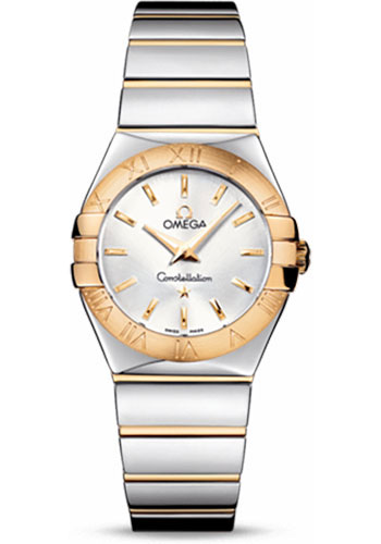 Omega Watches - Constellation Quartz 27 mm - Polished Steel and Yellow Gold - Style No: 123.20.27.60.02.004