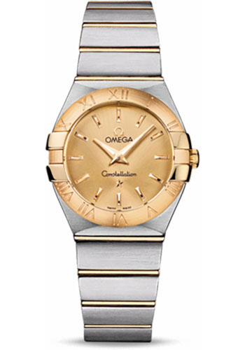 Omega Watches - Constellation Quartz 27 mm - Brushed Steel and Yellow Gold - Style No: 123.20.27.60.08.001
