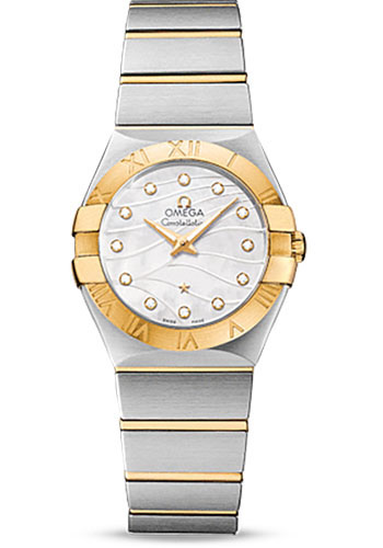 Omega Watches - Constellation Quartz 27 mm - Brushed Steel And Yellow Gold - Style No: 123.20.27.60.55.005