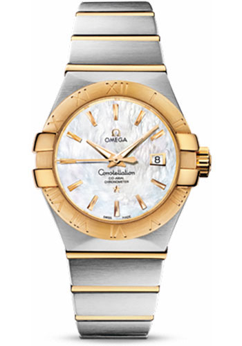 Omega Watches - Constellation Co-Axial 31 mm - Brushed Steel and Yellow Gold - Style No: 123.20.31.20.05.002