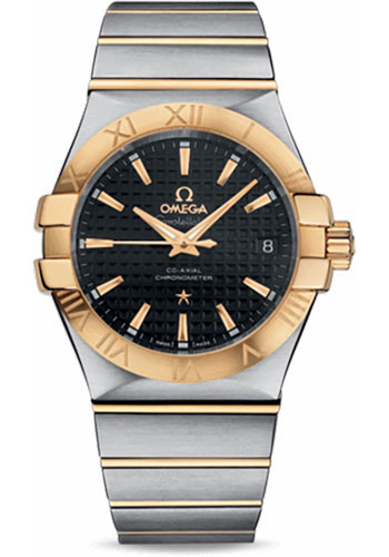 Omega Watches - Constellation Co-Axial 35 mm - Brushed Steel and Yellow Gold - Style No: 123.20.35.20.01.002